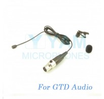 YAM Black LM2-C3D Lavalier Microphone For GTD Audio Wireless Microphone