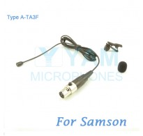 YAM Black LM2-C3N Lavalier Microphone For SAMSON Wireless Microphone
