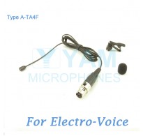 YAM Black LM2-C4AV Lavalier Microphone For Electro-Voice Wireless Microphone