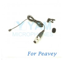 YAM Black LM2-C4Q Lavalier Microphone For Peavey Wireless Mirophone