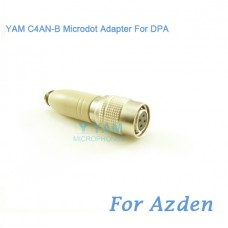 YAM C4AN-B Microdot Adapter FOR DPA Fit Azden Bodypack Transmitter