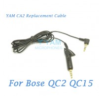 YAM CA2 Replacement Cable cord for Bose Quiet Comfort 2 QC2 QC15 Headphones