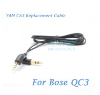 YAM CA3 Replacement Cable cord for Bose Quiet Comfort 3 QC3 Headphones