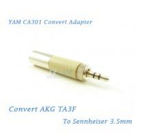 YAM CA301 Convert AKG TA3F to Sennheiser 3.5mm Wireless Bodypack Transmitter
