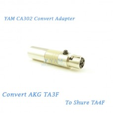 YAM CA302 Convert AKG TA3F to SHURE TA4F Wireless Bodypack Transmitter
