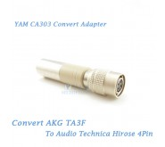 YAM CA303 Convert AKG TA3F to Audio Technica Hirose 4Pin Bodypack Transmitter