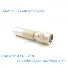 YAM CA303 Convert AKG TA3F to Audio Technica Hirose 4Pin Bodypack Transmitter