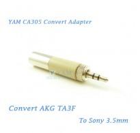 YAM CA305 Convert AKG TA3F to Sony 3.5mm Wireless Bodypack Transmitter