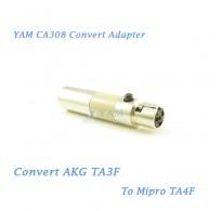 YAM CA308 Convert AKG TA3F to Mipro TA4F Wireless Bodypack Transmitter