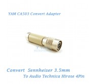 YAM CA503 Convert Sennheiser 3.5mm to Audio Technica Hirose 4Pin Bodypack Transmitter