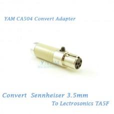 YAM CA504 Convert Sennheiser 3.5mm to Lectrosonics TA5F Bodypack Transmitter