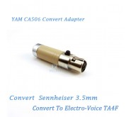 YAM CA506 Convert Sennheiser 3.5mm to Electro Voice TA4F Wireless Bodypack Transmitter