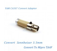 YAM CA507 Convert Sennheiser 3.5mm to Mipro TA4F Wireless Bodypack Transmitter