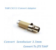 YAM CA510 Convert Sennheiser 3.5mm to JTS TA4F Wireless Bodypack Transmitter