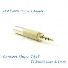 YAM CA601 Convert Shure TA4F to Sennheiser 3.5mmF Wireless Bodypack Transmitter