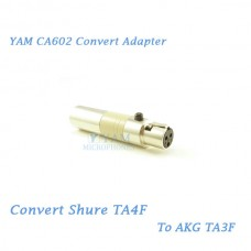 YAM CA602 Convert Shure TA4F to AKG TA3F Wireless Bodypack Transmitter