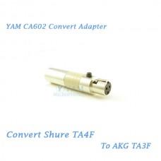 YAM CA602 Convert Shure TA4F to AKG TA3F Wireless Bodypack Transmitter