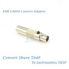 YAM CA604 Convert Shure TA4F to Lectrosonics TA5F Bodypack Transmitter