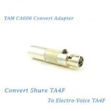YAM CA606 Convert Shure TA4F to Electro Voice TA4F Wireless Bodypack Transmitter