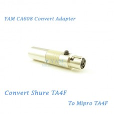 YAM CA608 Convert Shure TA4F to Mipro TA4F Wireless Bodypack Transmitter