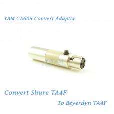 YAM CA609 Convert Shure TA4F to Beyerdynamic TA4F Wireless Bodypack Transmitter