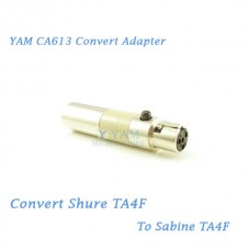 YAM CA613 Convert Shure TA4F to Sabine TA4F Wireless Bodypack Transmitter