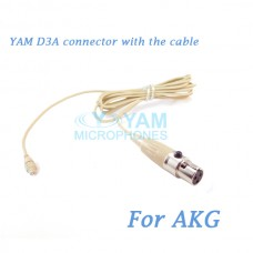 YAM D3A Connector with the Cable For HM5 fit AKG Wireless Microphones