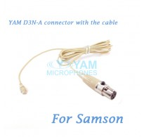 YAM D3N Connector with the Cable For HM5 fit Samson Wireless Microphones