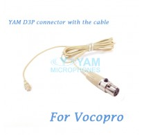 YAM D3P Connector with the Cable For HM5 fit Vocopro Wireless Microphones