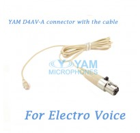 YAM D4AV Connector with the Cable For HM5 fit Electro Voice Wireless Microphones