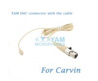 YAM D4C Connector with the Cable For HM5 fit Carvin Wireless Microphones