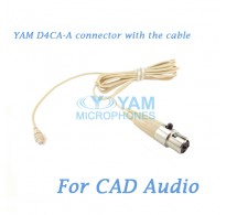 YAM D4CA Connector with the Cable For HM5 fit CAD Audio Wireless Microphones