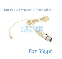 YAM D4G Connector with the Cable For HM5 fit Vega Wireless Microphones