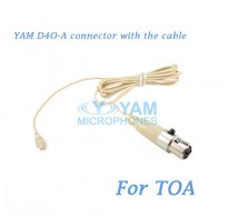 YAM D4O Connector with the Cable For HM5 fit TOA Wireless Microphones