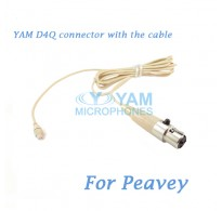 YAM D4Q Connector with the Cable For HM5 fit Peavey Wireless Microphone
