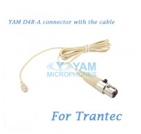 YAM D4R Connector with the Cable For HM5 fit Trantec Wireless Microphones