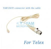 YAM D4TE Connector with the Cable For HM5 fit Telex Wireless Microphones