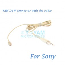 YAM D4W Connector with the Cable For HM5 fit Sony Wireless Microphones