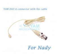 YAM D4Z Connector with the Cable For HM5 fit Nady Wireless Microphones