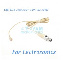 YAM D5L Connector with the Cable For HM5 fit Lectrosonics Wireless Microphones