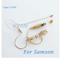 YAM Beige EM1-C3N Headset Microphone For SAMSON Wireless Microphone