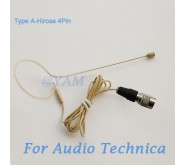 YAM Beige EM1-C4AT Headset Microphone For Audio Technica Wireless Microphone