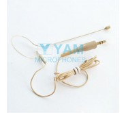 YAM Beige EM1-C4UT Earset Microphone With 3.5mm Plug For Wireless Audio System PC Recorder