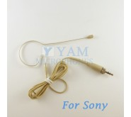 YAM Beige EM2-C4W Earset Microphone For  SONY Wireless Mirophones Designed For Children
