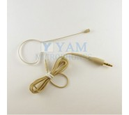 YAM Beige EM2-C4UT Earset Microphone With 3.5mm Plug For Wireless Audio System PC Recorder