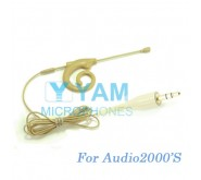 YAM Beige EM8-C4AU Earset Microphone For Audio2000S Wireless Microphone Designed For Children and Adult