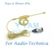 YAM Beige EM8-C4AT Earset Microphone For Audio Technica Wireless Microphone Designed For Children and Adult