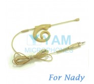YAM Beige EM8-C4Z Earset Microphone For Nady Wireless Microphone Designed For Children and Adult