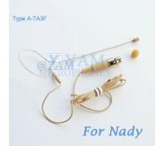 YAM Beige EM1-C4Z Earset Microphone For Nady Wireless Microphone