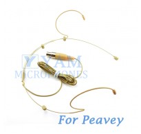 YAM Beige HM3-C4Q Headset Microphone For Peavey Wireless Mirophone